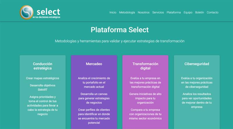 Select lanza nuevo sitio para impulsar transformación digital